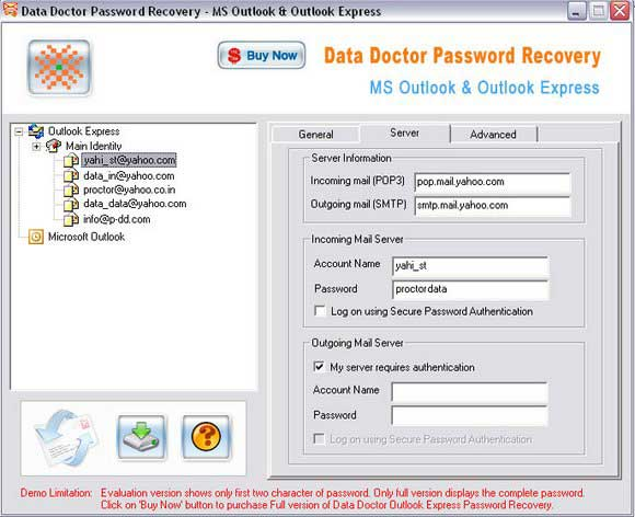 Outlook Express Password Viewer 3.0.1.5