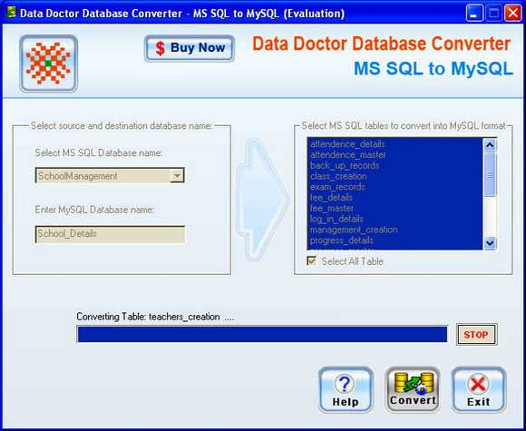 MSSQL to MySQL Conversion Program 2.0.1.5