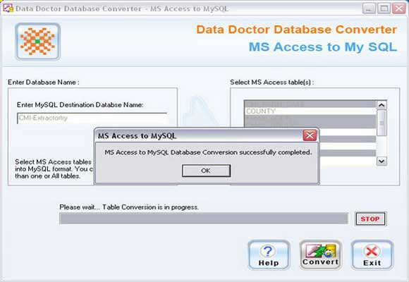 MS Access to MySQL Conversion Tool 2.0.1.5