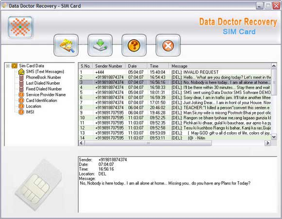 Sim card deleted data recovery tool 3.0.1.5