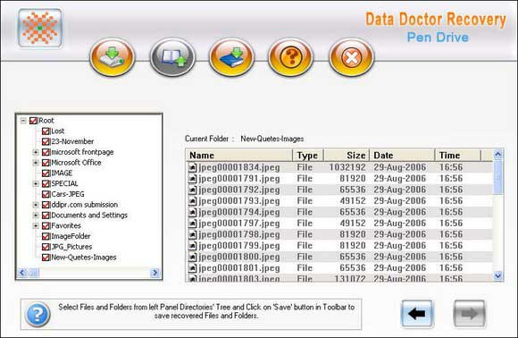 USB drive Data Recovery screen shot